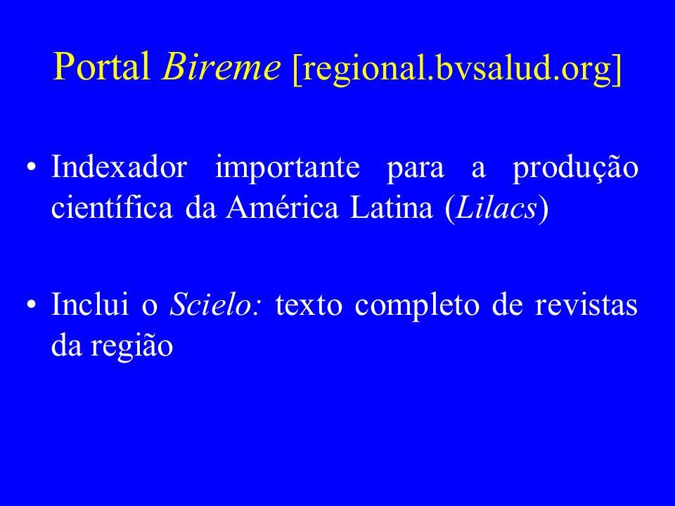 Portal Bireme [regional.bvsalud.org]
